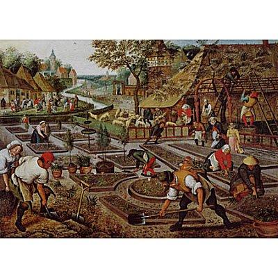 Puzzle Dtoys-66947 Brueghel Pieter le jeune - Printemps