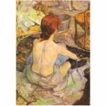 Puzzle  DToys-66961-IM07 Henri de Toulouse-Lautrec - Femme à sa toilette