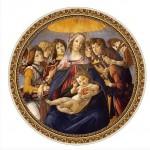Puzzle  DToys-66985-TM01 Botticelli Sandro : Madonna della Melagra