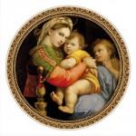 Puzzle  DToys-66985-TM03-(69771) Raphael, Raffaello Sanzio : Madonna della Seggiola