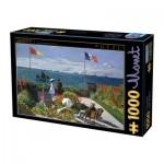 Puzzle  Dtoys-67548-CM07 Claude Monet - Terrasse à Sainte-Adresse, 1867
