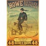 Puzzle  Dtoys-67555 Poster vintage - Howe Bicycles et Tricyles
