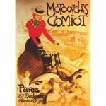 Puzzle  DToys-67555-VP02-(69634) Poster vintage - Motocycles Comiot, Paris