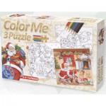Dtoys-67593-XM-01 Color Me : Contes et Légendes : 3 Puzzles de Noël + dessins à colorier