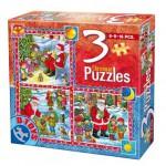 Dtoys-67630-CH-02 Contes de Noël : 3 Puzzles de Noël