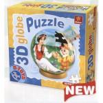Dtoys-67814-GP-02 Puzzle Globe - Blanche Neige et les 7 nains