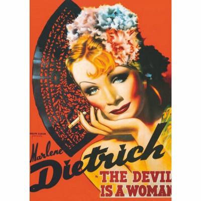 Puzzle Dtoys-69559 Poster vintage - Marlene Dietrich, The Devil is a Woman
