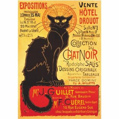 Puzzle DToys-69566 Poster vintage - Collection du Chat Noir