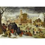 Puzzle  Dtoys-70005 Brueghel Pieter le jeune - Hiver