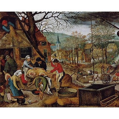 Puzzle DToys-70012 Brueghel Pieter le jeune - Automne