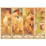 Puzzle  Dtoys-70043 Mucha Alphonse - Les 4 saisons