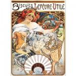 Puzzle  Dtoys-70098 Mucha Alphonse - Biscuits Lefèvre-Utile