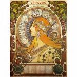 Puzzle  Dtoys-70111 Mucha Alphonse - Zodiaque