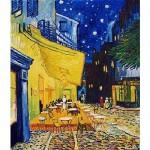 Puzzle  DToys-70180 Van Gogh Vincent - Arles, Terrasse du café le soir, Place du Forum