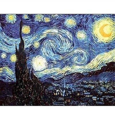 Puzzle Dtoys-70197 Van Gogh Vincent - La nuit étoilée