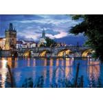 Puzzle  DToys-70500 Paysages nocturnes - République tchèque : Prague