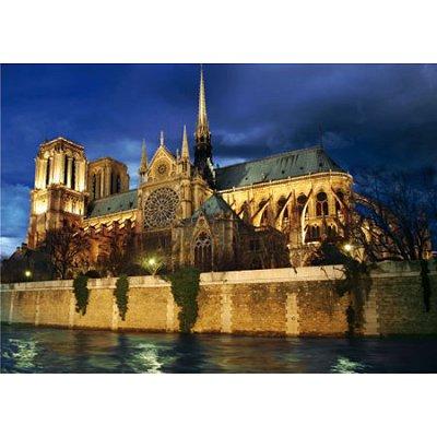 Puzzle DToys-70517 Paysages nocturnes - France : Cathédrale Notre-Dame de Paris