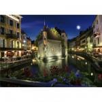 Puzzle  DToys-70531 Paysages nocturnes - France : Annecy