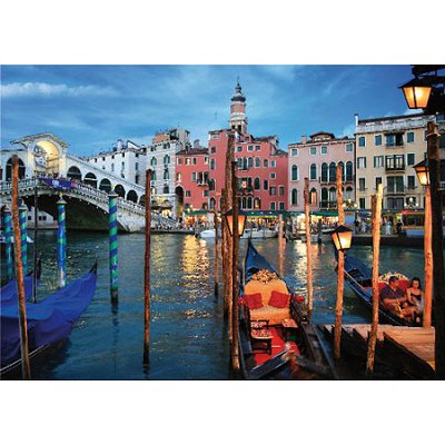 Puzzle DToys-70555 Paysages nocturnes - Italie : Venise
