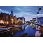 Puzzle  Dtoys-70562 Paysages nocturnes - Belgique : Gand
