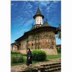 Puzzle  DToys-70760 Roumanie : Monastère Sucevita