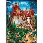 Puzzle  DToys-70852 Cartoon Collection - Vampire party