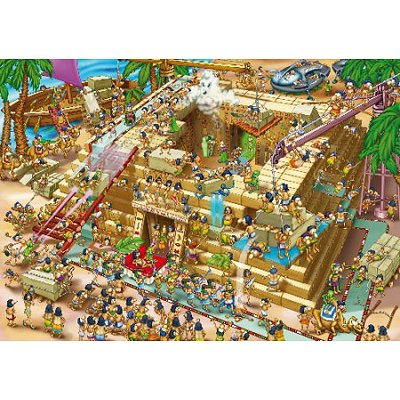 Puzzle DToys-70890 Cartoon Collection - Pyramide d'Egypte