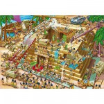 Puzzle  DToys-70890 Cartoon Collection - Pyramide d'Egypte