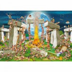 Puzzle  DToys-70906 Cartoon Collection - Stonehenge
