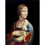 Puzzle  Dtoys-72689-DA02 Léonard De Vinci : La Dame à l'Hermine