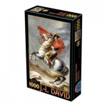 Puzzle  Dtoys-72719 David Jacques-Louis : Napoléon Bonaparte franchissant les Alpes