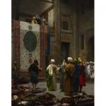 Puzzle  Dtoys-72726 Jean-Léon Gérôme : Marchand de tapis au Caire, 1887