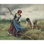 Puzzle  Dtoys-72788-DU01-(72788) Julien Dupré: La Recolte des Foins
