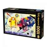 Puzzle  Dtoys-72849-KA03-(75123) Kandinsky Vassily : Jaune, Rouge, Bleu