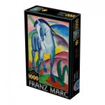 Puzzle  Dtoys-72856-MA02 Marc Franz : Cheval Bleu