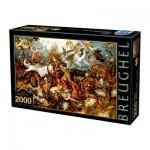 Puzzle  Dtoys-72900-BR02-(72900) Brueghel Pieter : La Chute des Anges Rebelles, 1562