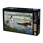 Puzzle  Dtoys-73068-MA05 Edouard Manet - Les Berges de la Seine à Argenteuil
