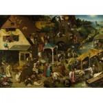 Puzzle  Dtoys-73778-BR01-(73778) Brueghel Pieter - Les Proverbes Flamands