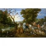 Puzzle  DToys-73778-BR02-(75253) Brueghel Pieter - Entrée des Animaux dans l'Arche de Noé