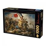Puzzle  Dtoys-73808-DE01-(73808) Delacroix Eugène - La Liberté Guidant le Peuple