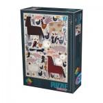 Puzzle  Dtoys-74348-KA01 Andrea Kürti - Farm Animals