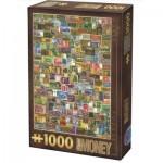 Puzzle  Dtoys-74362-VC04 Vintage Collage - Billets de Banque