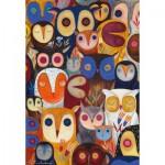 Puzzle  Dtoys-74508 Kurti Andi - Collage - Hiboux