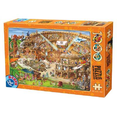 Puzzle Dtoys-74676 Cartoon Collection - Construction du Colisée