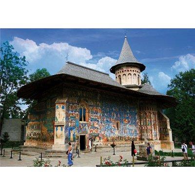 Puzzle DToys-74751 Roumanie : Monastère Voronet