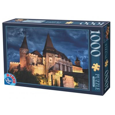 Puzzle Dtoys-74775 Château des Corvin by Night - Roumanie