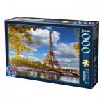 Puzzle  Dtoys-74805 La Tour Eiffel, Paris