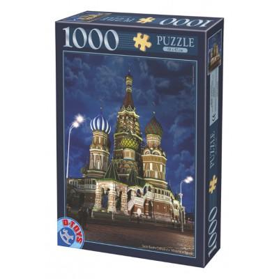 Puzzle Dtoys-74812 Russie, Moscou : Cathédrale Saint-Basile-le-Bienheureux