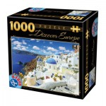 Puzzle  Dtoys-74874 Discover Europe - Santorin