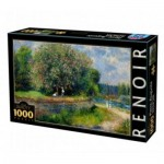 Puzzle  DToys-74904 Auguste Renoir - Marronnier en fleurs